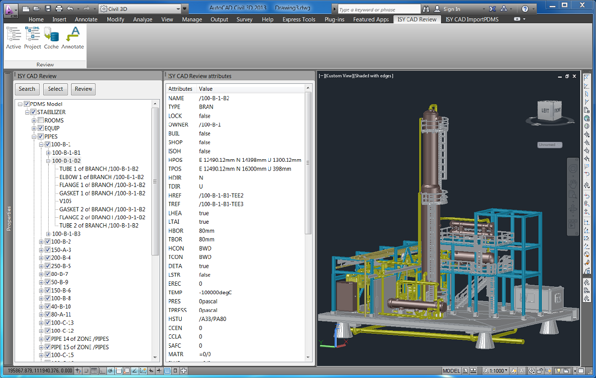 Products Isy Plant Conversion Norconsult Informasjonssystemer Piping Diagram Symbols Autocad Pdms Model In